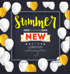 Summer new collection banner vintage style text vector