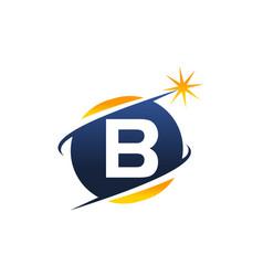 swoosh logo letter b vector image vector image