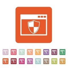 The antivirus icon Firewall and safety vector image vector image