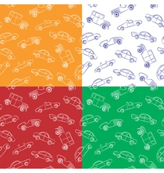 Vintage cars pattern vector image vector image