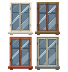 Windows with four frames vector