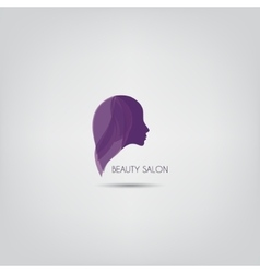 Woman silhouette logo design template vector