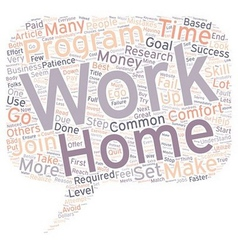 Work at Home Common Mistakes text background vector image vector image