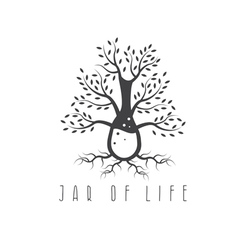 jar of life design concept with tree vector image
