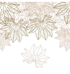 Autumn braun leaves background - vector image