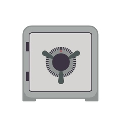 Strongbox security money financial item icon vector