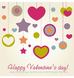 Cute valentine love congratulation card vector