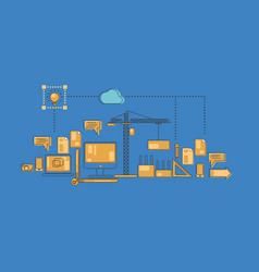 design infographics vector image