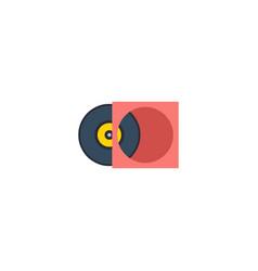 Flat vinyl element of flat vector