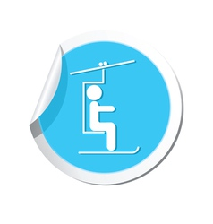 Chair lift icon round vector