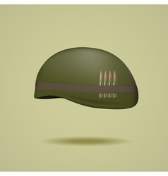 Military helmet vector