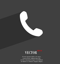 Phone support call center icon symbol flat modern vector