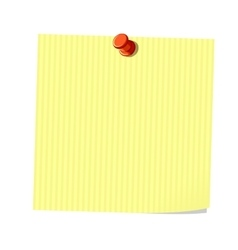 Yellow note vector image