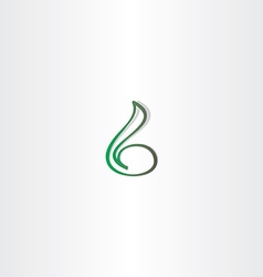 Green small letter b icon element vector