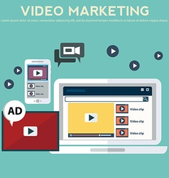 Concepts for video marketing advertising social vector