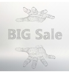 Big sale on the arm the vector