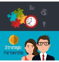 Strategic partnership design vector