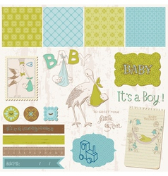scrapbook vintage design elements vector image