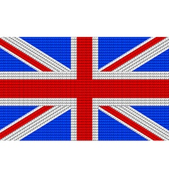 Uk flag embroidery design pattern vector