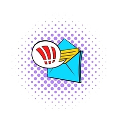 Important e-mail icon pop-art style vector