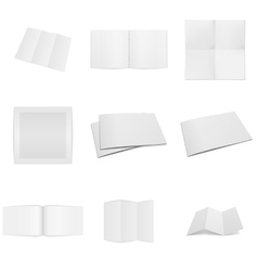 Business paper empty mockups set vector