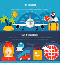 air travel 2 flat airlines banners vector image vector image