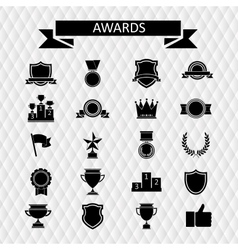 awards and trophies set of icons vector image vector image