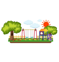 background scene with playground in the sun vector image