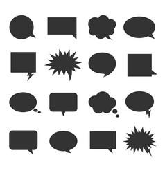 bubble talk icon set vector image vector image
