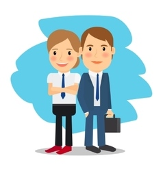 Business partners man and woman vector image vector image