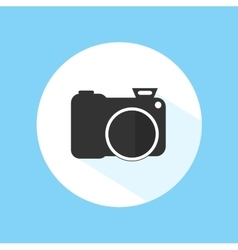 Camera Icon Silhouette Photography Symbol vector image vector image