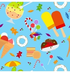Candies and ice cream seamless pattern vector