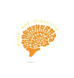 Creative brain abstract logo design vector image vector image