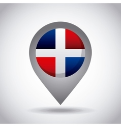 Dominican republic flag pin vector
