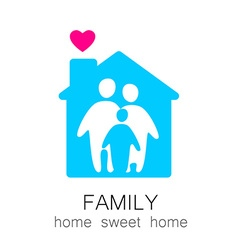 family sweet home vector image
