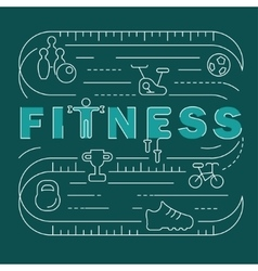 Fitness club banner vector