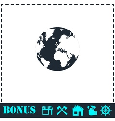 Globe Earth icon flat vector image vector image