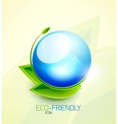 Green concept icon vector image
