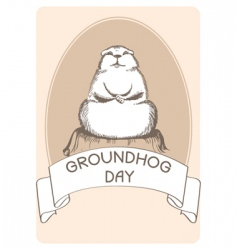 ground hog day vector image vector image