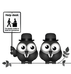 Help Desk Sign vector image