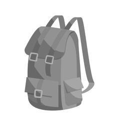 Hunting backpack icon black monochrome style vector