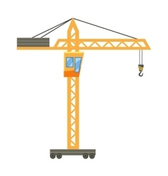Orange hoisting crane icon cartoon style vector image