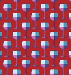 Pop art red wine glass seamless pattern vector
