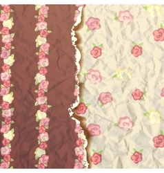 Rose flower pattern shabby chic with roses vector