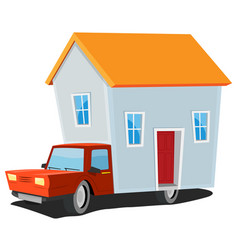 Small house on delivery truck vector