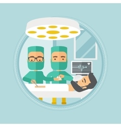 Two surgeons making operation vector