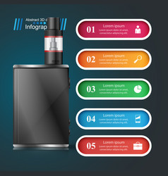 vape vaper smoke - business infographic vector image