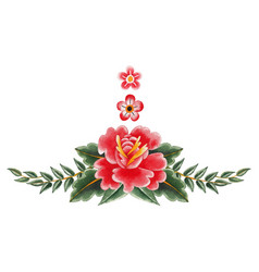watercolor floral vignette vector image