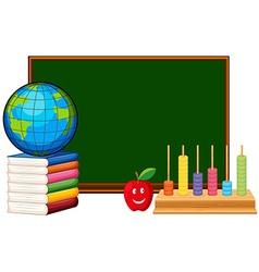 Blackboard and educational materials vector image