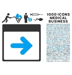 Next Calendar Day Icon With 1000 Medical Business vector image